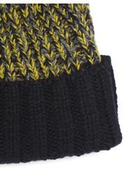 Paul Smith | Yellow Lambswool Twisted-yarn Cable Knit Bobble Hat | Lyst