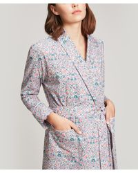 Liberty - Multicolor Imran Long Cotton Robe - Lyst