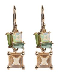 Nak Armstrong | Metallic Rose Gold Multi-stone Drop Earrings | Lyst