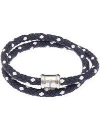 Miansai - Blue Two-tone Leather Casing Bracelet - Lyst