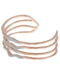 Monica Vinader | Metallic Riva Diamond Hero Wave Cuff | Lyst