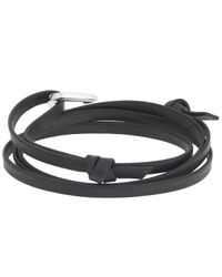 Miansai | Black Hook On Leather Bracelet for Men | Lyst