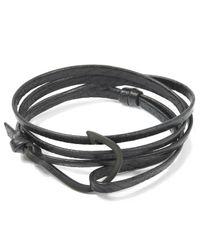 Miansai - Black Hook Leather Bracelet for Men - Lyst
