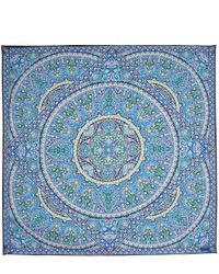 Liberty - Blue Andromeda 135 X 135 Silk Scarf - Lyst