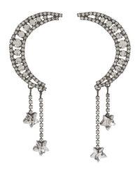 Jennifer Behr - Metallic Crystal Luna Earrings - Lyst