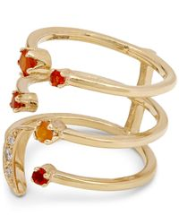 Andrea Fohrman - Metallic Gold Triple Moon Fire Opal Ring - Lyst