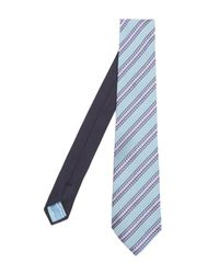 Missoni - Blue Diagonal Block Stripe Tie for Men - Lyst