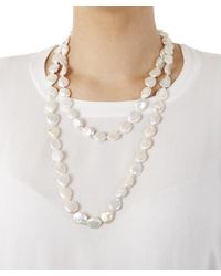 Stephen Dweck - Metallic Silver And White Nugget Pearl Long Strand Necklace - Lyst