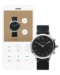 Kronaby - Black Connected A1000-3126 Unisex Nord Leather Strap Smartwatch for Men - Lyst