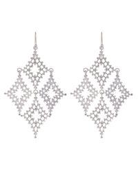 Laurent Gandini - Metallic Sterling Silver Kite Earrings - Lyst