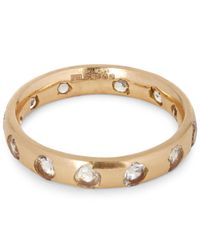 Polly Wales - Metallic Rose Gold White Sapphire Ring - Lyst