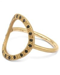 Brooke Gregson - Metallic Gold And Black Diamond Infinity 20 Ring - Lyst