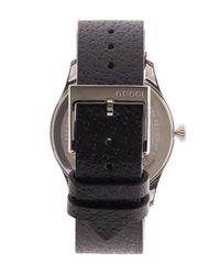 Gucci - Black G-timeless Leather Bee Motif Watch - Lyst