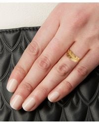Alex Monroe - Metallic Gold Wrapped Feather Ring - Lyst