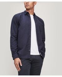 Norse Projects - Blue Anton Flannel Pocket Shirt for Men - Lyst