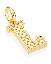Monica Vinader - Metallic Gold Vermeil Alphabet Pendant A-z - Lyst