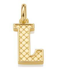 Monica Vinader | Metallic Gold-plated Alphabet Pendant L | Lyst