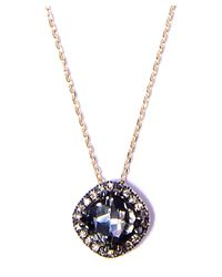 Suzanne Kalan - Metallic Champagne Diamond Vitrine Rings Yellow Gold Necklace - Lyst