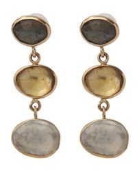 Melissa Joy Manning | Metallic Labradorite Three Drop Earrings | Lyst