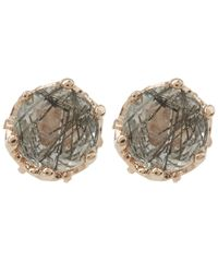 Anna Sheffield | Multicolor Rose Gold Petite Solitaire Earrings | Lyst