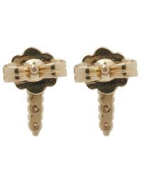 Anna Sheffield - Metallic Gold Pave Point Stud Earrings - Lyst