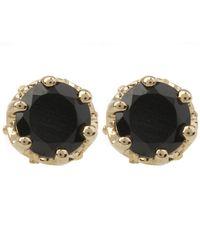 Anna Sheffield - Metallic Gold Petite Solitaire Earrings - Lyst