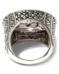 Stephen Dweck - Metallic Oval Ring With Black Diamond Pave Center - Lyst