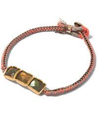 Brooke Gregson - Brown Labradorite Triple Bar Bracelet - Lyst