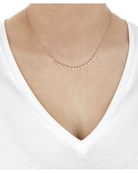 Sia Taylor - Multicolor Rose Gold Little Dots Necklace - Lyst