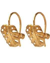 Alex Monroe | Metallic Gold-plated Cheese Plant Hook Earrings | Lyst