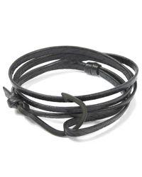 Miansai | Black Hook Leather Bracelet | Lyst