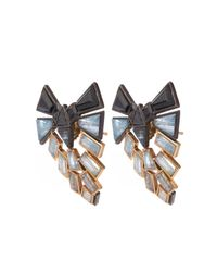 Nak Armstrong - Metallic Rose Gold Oxidised Silver Earrings - Lyst