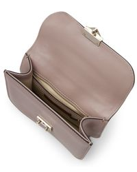 Valentino - Natural Leather Lock Medium Shoulder Bag - Lyst
