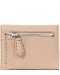 Givenchy - Pink Grained Leather Tri Fold Pandora Wallet - Lyst