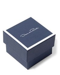 Oscar de la Renta - Blue Pearl Disc Necklace - Lyst