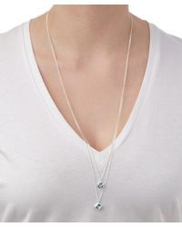Dinny Hall - Metallic Silver Swiss Sky And Blue Topaz Sheba Double Pendant - Lyst