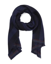 Paul Smith | Blue Striped Knit Scarf for Men | Lyst