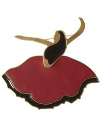 Marni - Red Metal Dancer Brooch - Lyst
