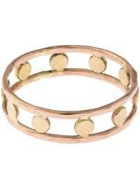 Melissa Joy Manning - Red Gold Double Band Circle Ring - Lyst