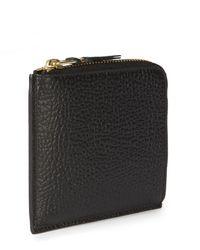 Comme des Garçons Sa3100ic Textured Leather Wallet Black