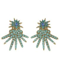 Oscar de la Renta | Blue Gold-plated Celestial Star Ear Jacket Earrings | Lyst
