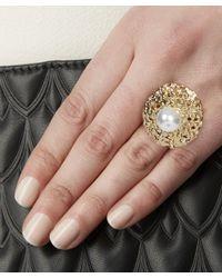 Oscar de la Renta | Metallic Urchin Pearl Ring | Lyst