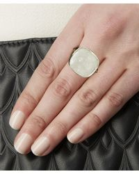 Stephen Dweck | Metallic Silver Engraved Crystal Quartz And Mother Of Pearl Ring | Lyst