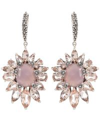 Stephen Dweck | Metallic Silver Pink Chalcedony And Peach Quartz Earrings | Lyst