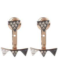 Kismet by Milka - Multicolor Rose Gold Diamond Crown Single Ear Jacket Earring - Lyst