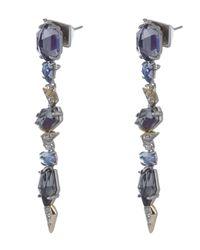 Alexis Bittar - Blue Long Drop Crystal Accent Earrings - Lyst