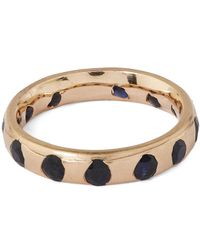 Polly Wales | Metallic Gold Crystal Ring With Black Sapphires | Lyst
