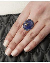 Andrea Fohrman - Metallic Gold Galaxy Lapis Lazuli Quartz Ring - Lyst