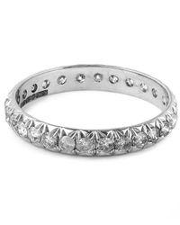 Anna Sheffield | Metallic White Gold Attelage Pave Grey Diamond Ring | Lyst