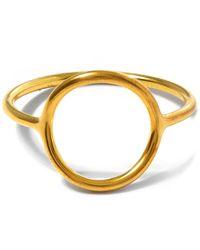 Maria Black | Metallic Monacle Gold-plated Ring | Lyst